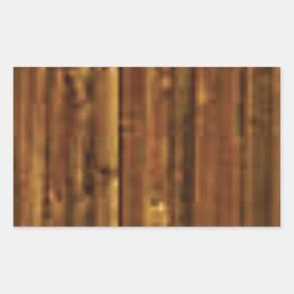 panneau en bois de brun foncé sticker rectangulaire