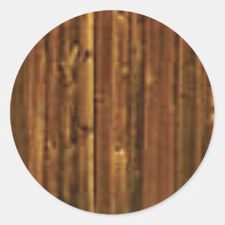 panneau en bois de brun foncé sticker rond