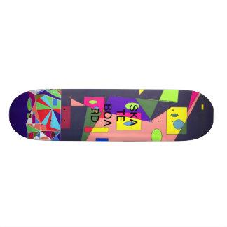 Panneau géométrique de patin de formes skateboard customisable