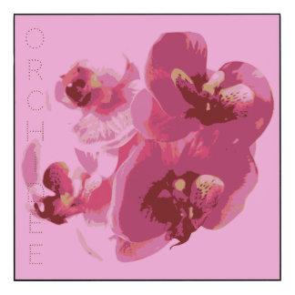 Panneau mural (27,94 cm x 27,94 cm) Orchidée
