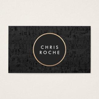Panneau noir moderne frais de liège d'emblème de cartes de visite