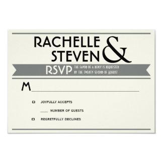 Panneau-réclame épousant RSVP Carton D'invitation 8,89 Cm X 12,70 Cm