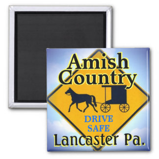 Panneau routier amish Magnet.Lanc. de Horse&Buggy Aimant