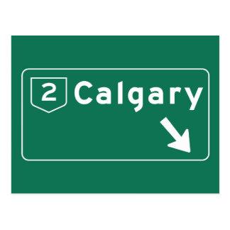Panneau routier de Calgary, Canada Carte Postale