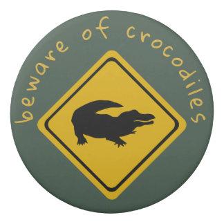 panneau routier de crocodile - gomme