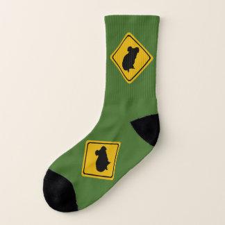 panneau routier de koala - chaussettes