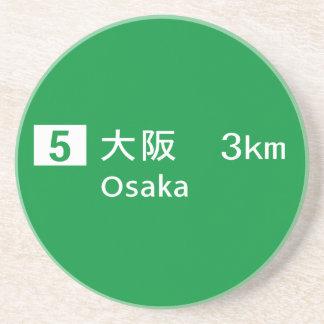 Panneau routier d'Osaka, Japon Dessous De Verres