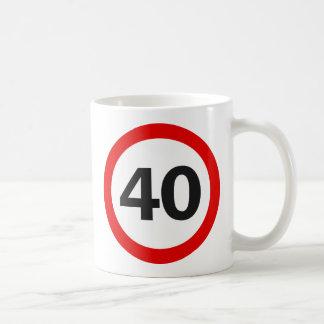 Panneau routier quarante mug