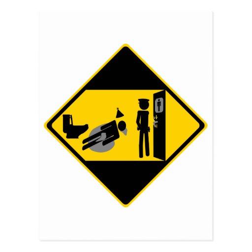 Panneau routier ridicule de Captian Carte Postale