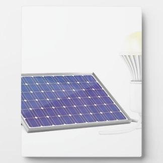 Panneau solaire et ampoule plaque photo