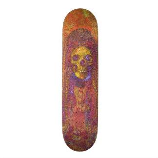 Panneau squelettique gothique décoratif de patin skateboard customisable