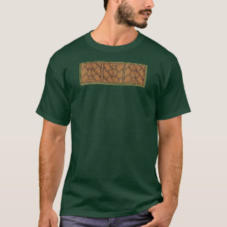 Panneau triple carré gothique médiéval t-shirt