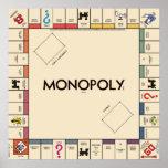 Panneau vintage de jeu de monopole posters