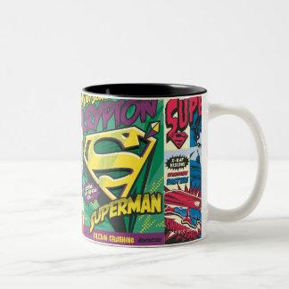 Panneaux comiques de Superman Tasse 2 Couleurs