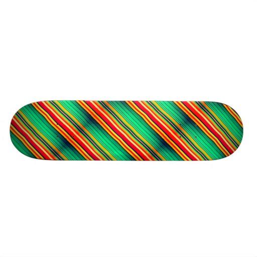 Panneaux de patin avec les rayures colorées modern skateboards