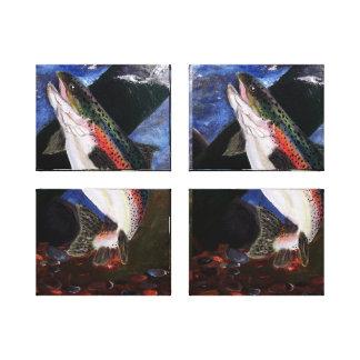 Panneaux de toile de literie de truite toile tendue sur châssis