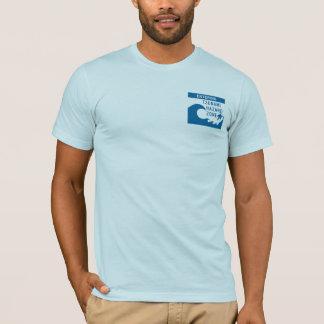 Panneaux routiers de tsunami - customisés t-shirt