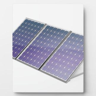 Panneaux solaires plaque photo
