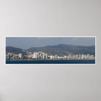 Panorama 3 d'Acapulco Poster