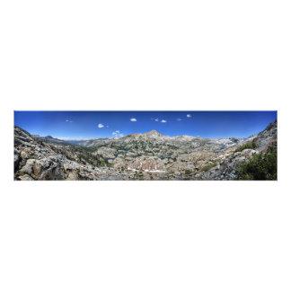 Panorama de bassin de lac medley de haute - sierra impression photo