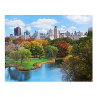 Panorama de Central Park de New York City Cartes Postales