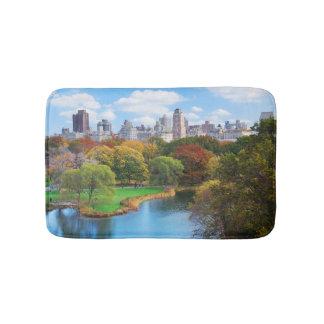 Panorama de Central Park de New York City Tapis De Bain