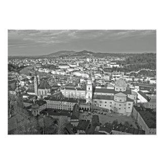 Panorama de la partie historique de Salzbourg Impression Photo