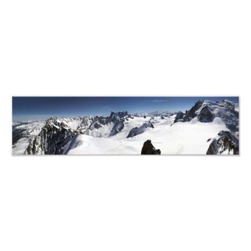 Panorama de Mont Blanc Tirage Photo