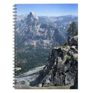 Panorama de point de glacier - vallée de Yosemite Carnet À Spirale