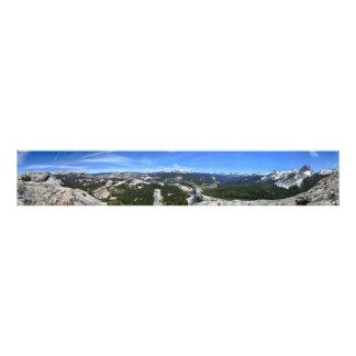 Panorama de prés de Tuolumne de dôme de Fairview - Impression Photo