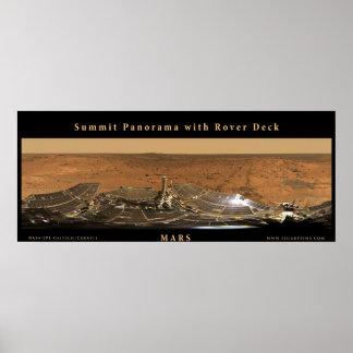 Panorama de sommet de Mars avec la plate-forme de Posters
