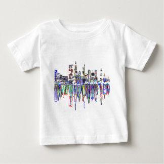 Panorama de ville t-shirt pour bébé