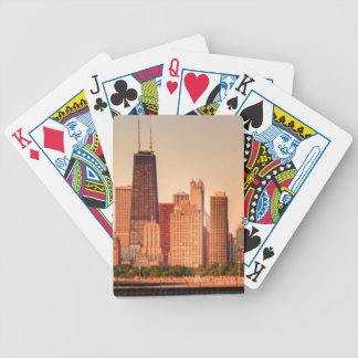 Panorama d'horizon de Chicago au lever de soleil Jeu De Poker