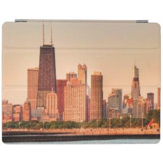 Panorama d'horizon de Chicago au lever de soleil Protection iPad