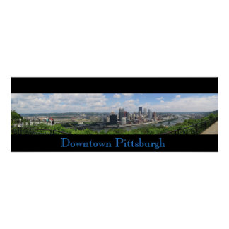 Panorama du centre de Pittsburgh Poster