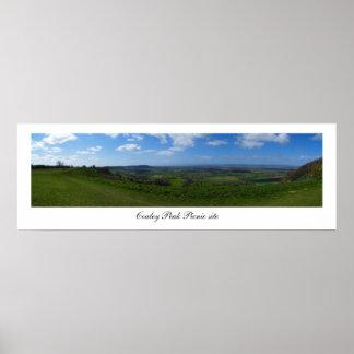 Panorama maximal de site de pique-nique de Coaley, Posters