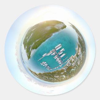 Panorama minuscule de planète de Turcs et de la Sticker Rond