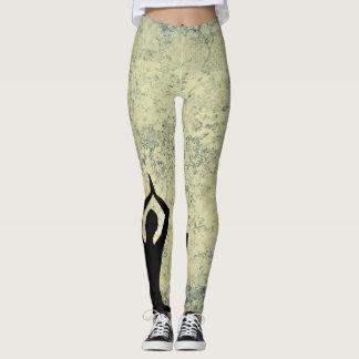 Pantalon de yoga avec le vert et le noir de Guru Leggings