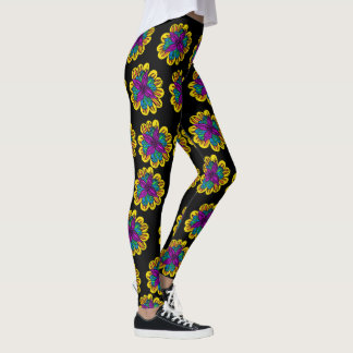 Pantalon de yoga de flower power leggings