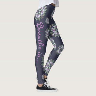 Pantalon de yoga de mandala d'aquarelle leggings