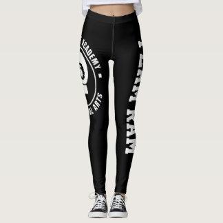 Pantalon/guêtres de yoga de RAM, noires Leggings