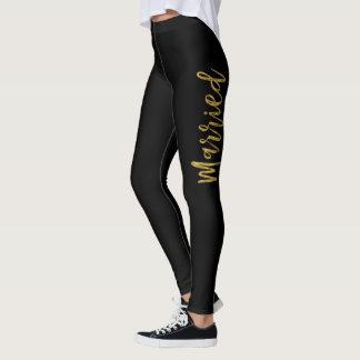 Pantalon marié de yoga d'aluminium de Faux juste Leggings