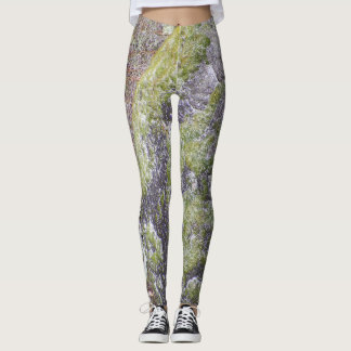 Pantalon moussu de yoga de roche leggings