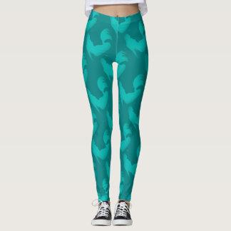 Pantalon nautique turquoise de yoga d'Aqua de Leggings