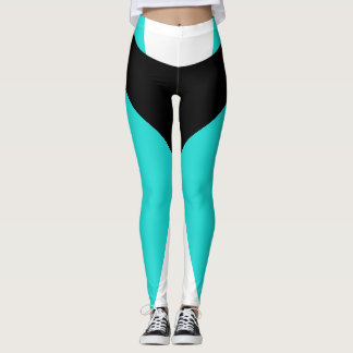 Pantalon noir de sports de turquoise amincissant leggings