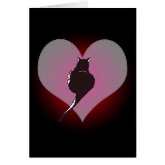 Panthère de chat noir ma carte de coeur