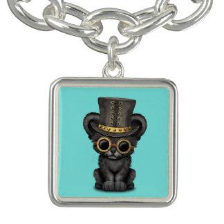 Panthère noire mignonne CUB de Steampunk Bracelet