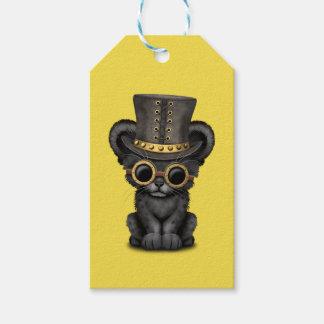 Panthère noire mignonne CUB de Steampunk Étiquettes-cadeau
