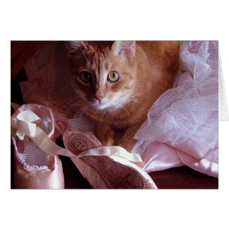 Pantoufles de chat et de ballet cartes