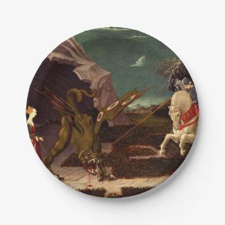 PAOLO UCCELLO - St George et le dragon 1470 Assiettes En Papier